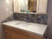 BACKSPLASH AND FLOOR TILING