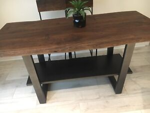 Solid wood, Whicker Emporium table and chairs