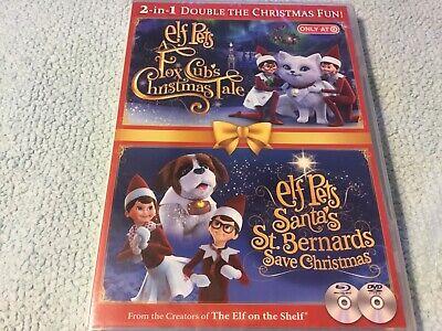 Elf On The Shelf Pets Fox Cubs Christmas Tale & Santa's St Bernards Save DVD NEW