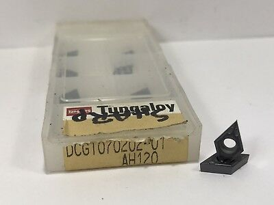 Tungaloy Dcgt070202-01 New Carbide Inserts Grade Ah120 8pcs
