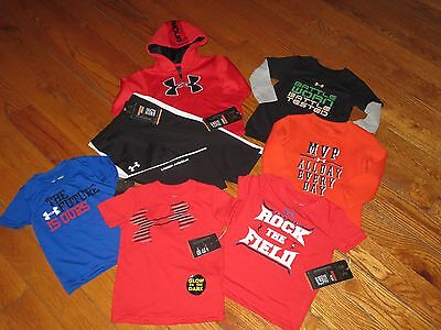 NWT UNDER ARMOUR BABY BOYS 12M MONTHS 7PC HOODIE, PANTS & SH