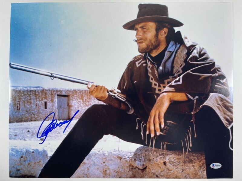 CLINT EASTWOOD SIGNED THE GOOD THE BAD AND THE UGLY 16x20 PHOTO BAS LOA #A09394