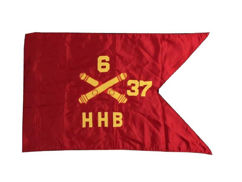 Vietnam War Ceremonial Silk Guidon • 6-37th Field Artillery, CAMP PELHAM 1965-70
