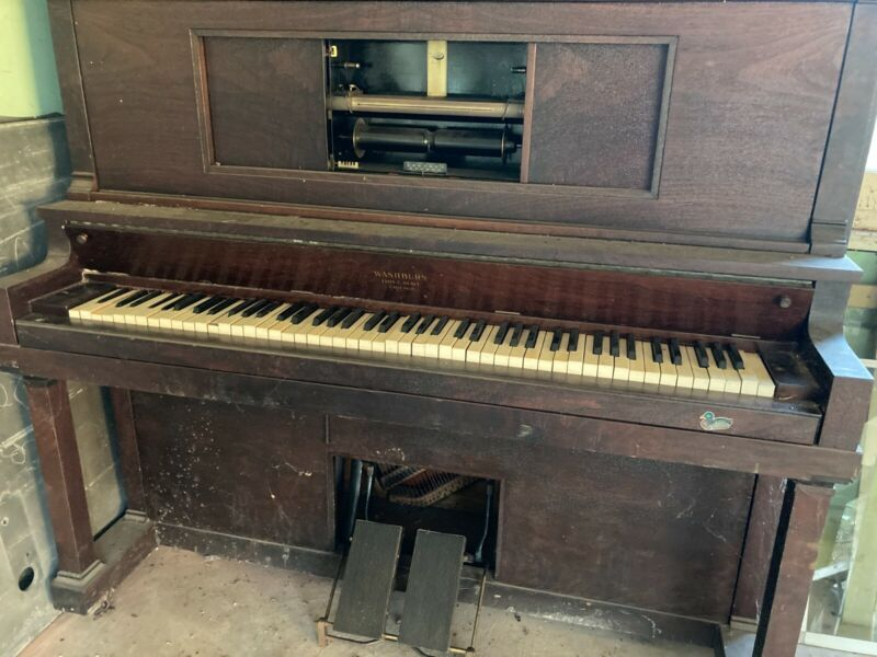 vintage player piano upright