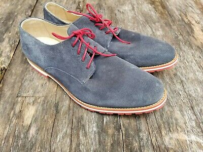 New HOUSE OF HOUNDS  men's 11 M blue suede leather lace up shoes made Portugal