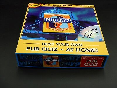 Own Quiz Game - Host Your Own Pub Quiz at Home - Classic CD Trivia Game - Brand New - Never Used