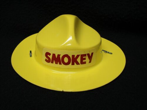 NOS NEW VINTAGE SMOKEY THE BEAR DOLL TOY HAT GENUINE ORIGINAL LOGO REPLACEMENT