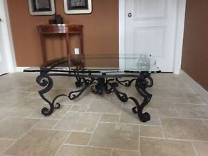 Glass coffee table - great shape $75
