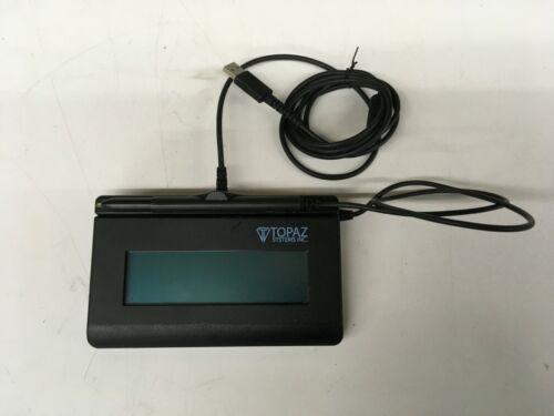 Topaz LBK462 1X5 USB Electronic Signature Pad Model T-LBK462-HSB-R TESTED WORKS
