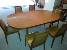 PARKER Vintage Teak Dining extention table and chairs Como Sutherland Area Preview