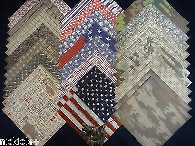 12x12 Scrapbook Paper Studio Proud to Serve Patriotic USA Camouflage Army 40 -