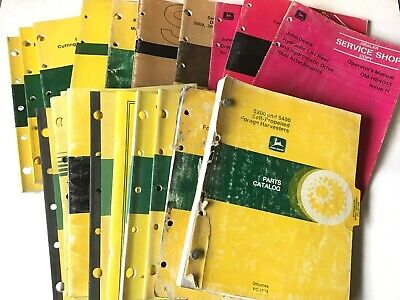 John Deere Vintage Parts Catalog Operators Manual Wholesale Lot - 20 Books