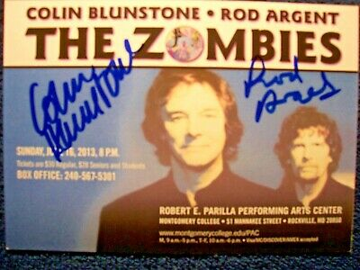ZOMBIES Colin Blunstone Signed Autographed Concert Ad By 2 RARE - $12.99