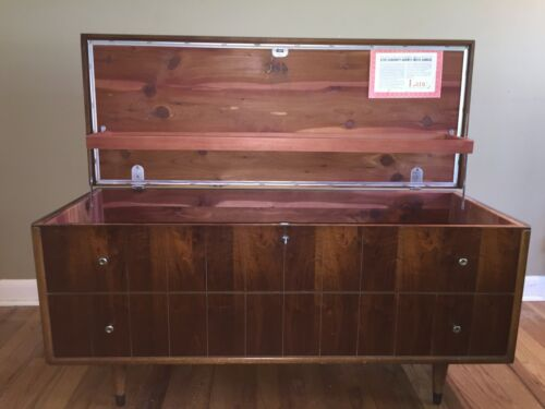 Vintage Lane Sweetheart Chest Lock Removed With Original Tags 1960 Mid Century