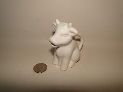 Two's Company Individual White Cow Creamer Pitcher