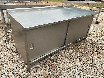 Heavy Duty 72 X 30 Commercial Stainless Steel Kitchen Work Enclosed Cabinet