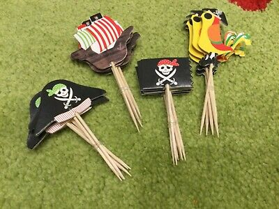 24 Muffin Cupcake Topper Piraten ‍☠️ Party Tortentopper Stecker Schiff Papage
