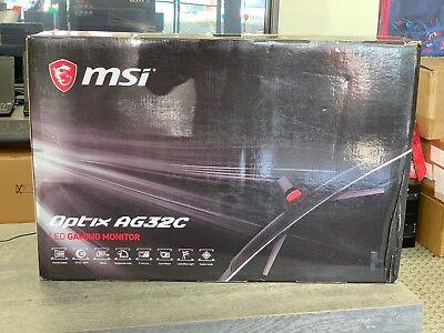 "MSI Optix AG32C Black 31.5"" 165Hz, 1ms (MPRT) CURVED,HDMI LED Gaming Monitor"