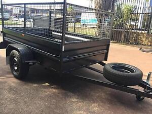 BOX TRAILER 8X5 HI SIDE 600MM CAGE 12 MONTHS PRIV REGO $1690 Blue Mountains Preview