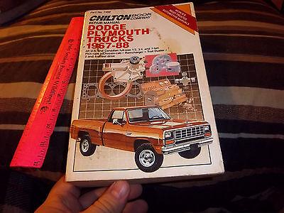 Chiltons dodge plymouth trucks 1967-88 repair manual, #7459