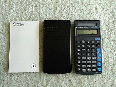 Texas Instruments TI-36X SOLAR Scientific Calculator with Cover and User