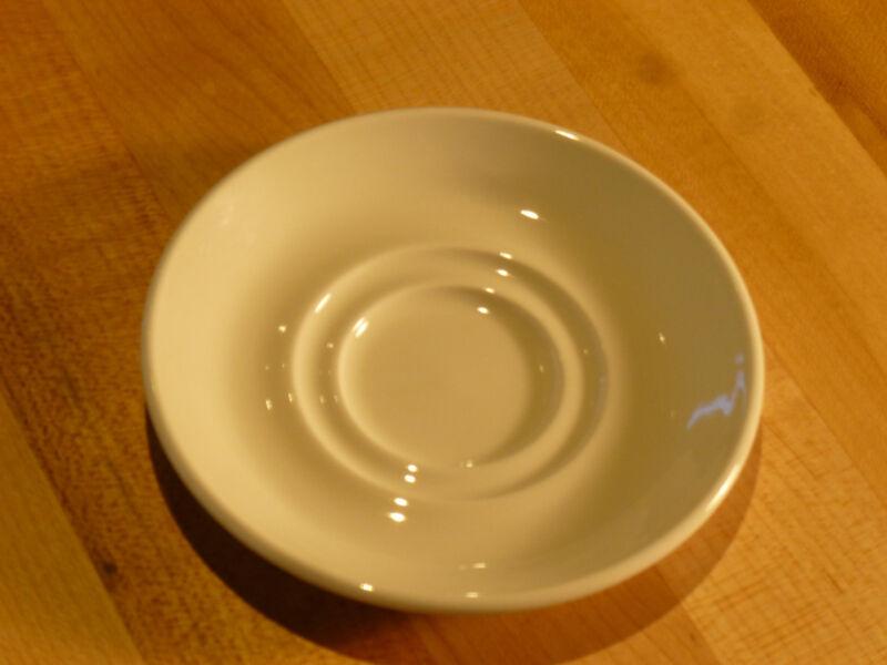 """Steelite Performance Simplicity White Saucer Dbl Well 4-5/8"""" (11010165)  - (Doz)"""