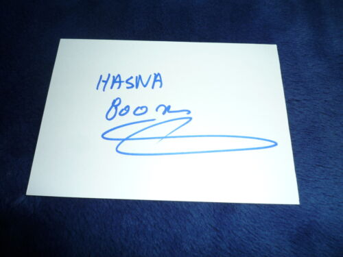 HASNA BENHASSI  signed Autogramm 10x15 cm In Person OLYMPIA Silber 2004 800m
