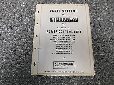 Letourneau Model T Rear Double Drum Front Power Control Unit Part Catalog