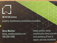 Handyman service . Renovation . Repairs . Installation