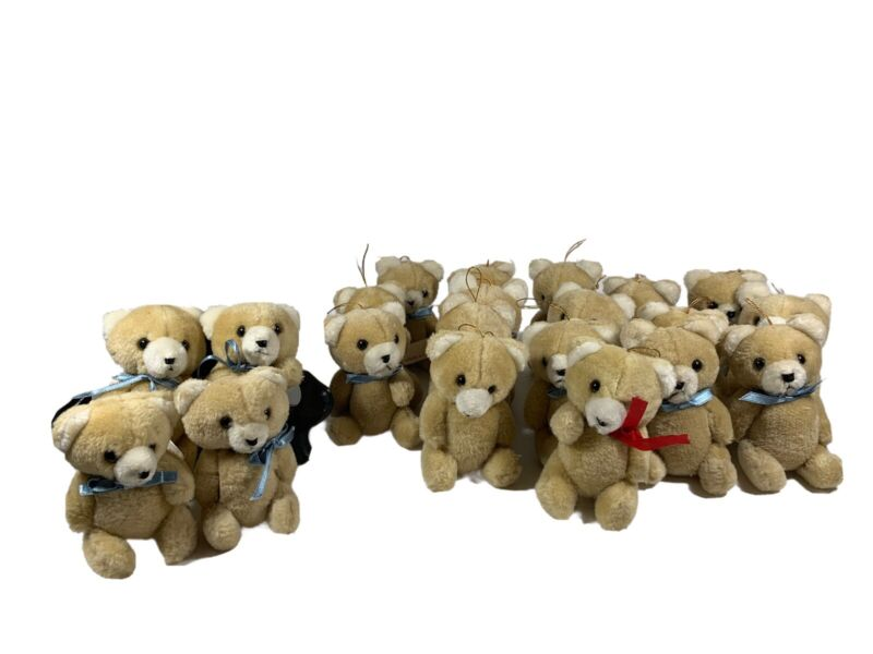 Teddy Bear Ornaments Cafi *read* Lot Of 21