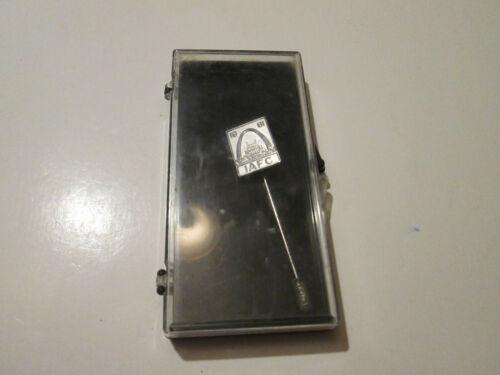 International Association of Fire Chiefs 1981 St Louis Souvenir Stick Pin  & Box