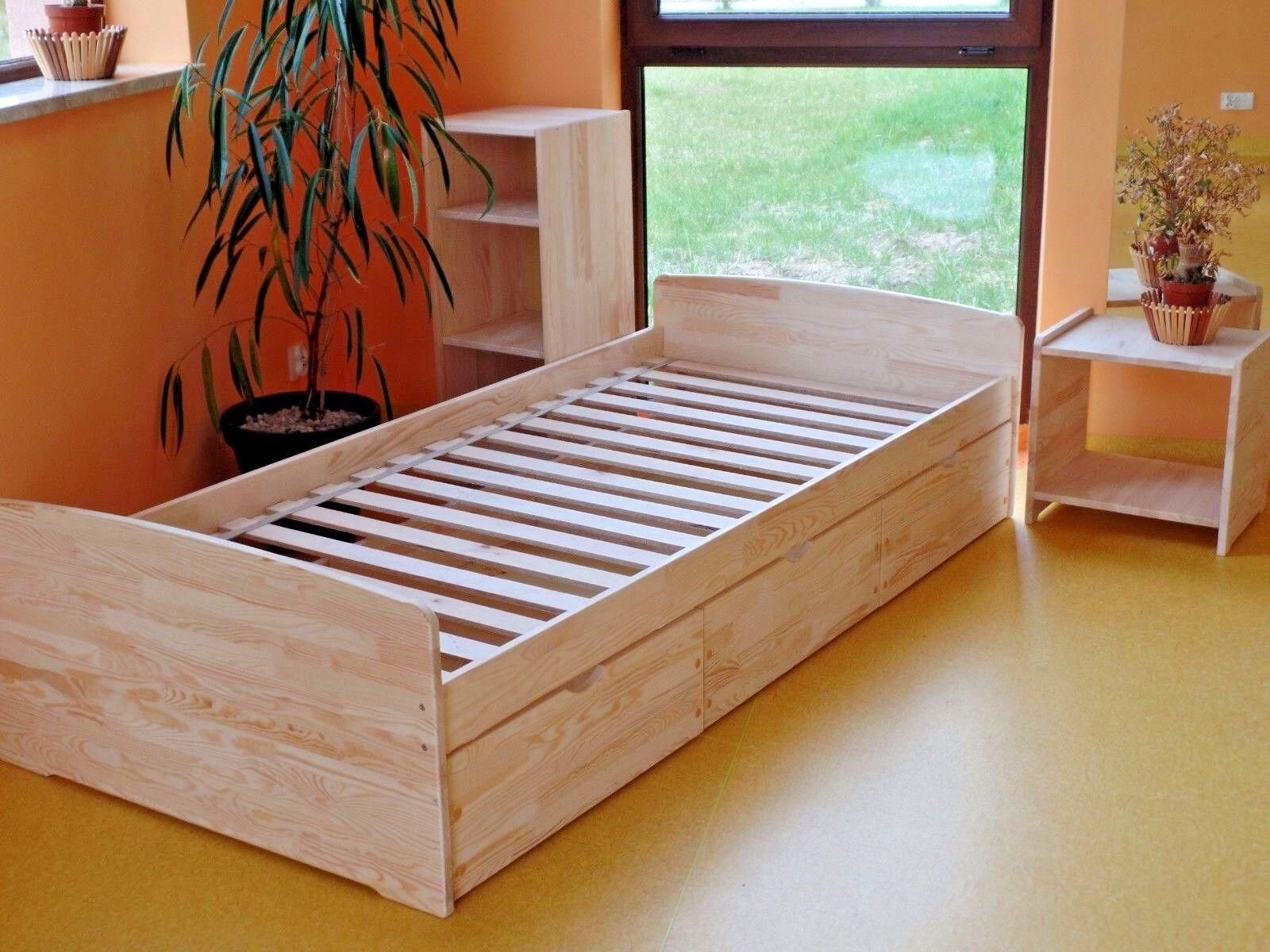 kinderbett funktionsbett einzelbett kojenbett jugendbett 90x200 voll massivholz eur 115 90. Black Bedroom Furniture Sets. Home Design Ideas