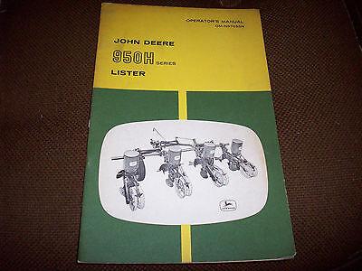 Original 950H Series Lister Operator's Manual