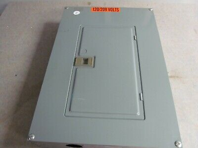 Square D Qoc24us Circuit Breaker Panel With Cover And Breakers 120208 3 Phase