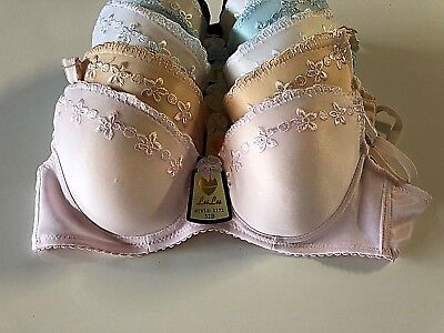 Lot Of 6 Pcs Sexy Padded Underwire Demis Bras 32B 32 B Brassiere #1172 US Seller