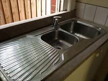 Second hand double kitchen sink with mixer Malvern East Stonnington Area Preview