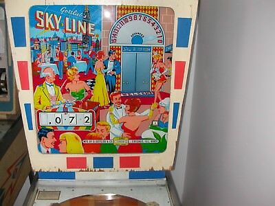 "1965 GOTTLIEB  ""SKYLINE"" Wedgehead (PLAYS FLAWLESSLY) Popular Pinball,,,,"