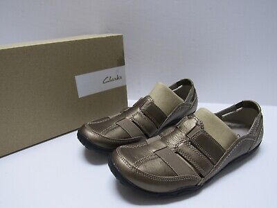 Clarks Womens Haley Stork Slip on Shoes Pewter Size 9.5 M
