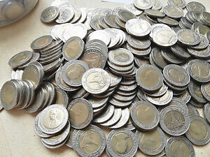 100 x 10 Baht Thailand Münzen Ferien Urlaub BiMetall Bi-Metall  57,99€