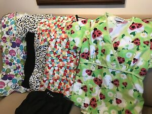 XS scrub tops and pants
