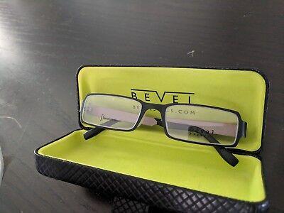 Bevel Lee rectangular titanium glasses frame betabevel, black and  antique brown