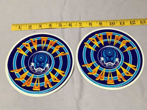 """Lot of x2 Vintage JOURNEY FRONTIERS Large 6"""" STICKERS rock & roll NOS NEW og"""