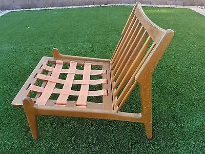 MID CENTURY MODERN DANISH LOUNGE CHAIR MADE IN DENMARK FOR RESTORE PROJECT ONLY