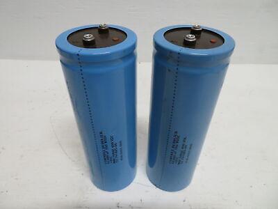 Lot Of 2 Cornell Dubilier 12-791985-00 Capacitor 12000 Uf 350 W Vdc 400 Vdc Blue