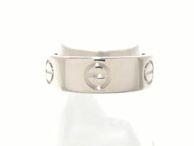 Authentic Cartier Love 18K White Gold 18K White Gold Ring #51