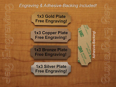Custom Engraved 1x3 Brushed Metal Tag Sign Plate Personalized Trophy Plaque