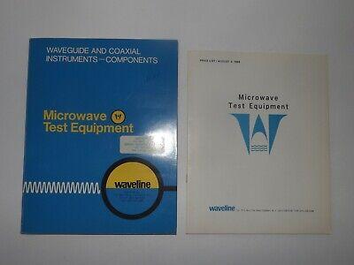 Waveline Vintage Microwave Test Equipment Catalog Price List 1969