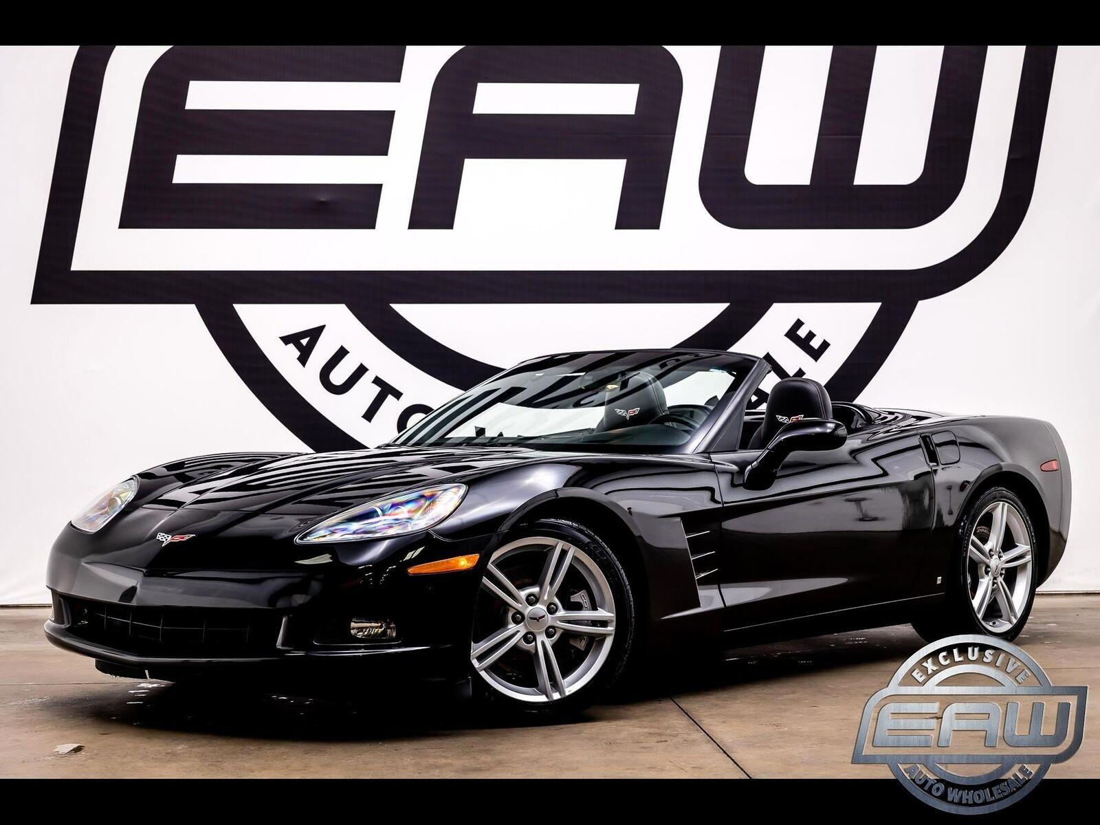 2008 Black Chevrolet Corvette Convertible  | C6 Corvette Photo 1