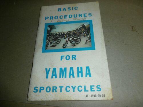 1967 Basic Procedures For Yamaha Sportcycles Motorcycle Manual