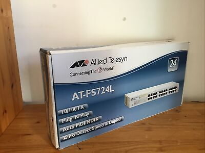 ATI Allied Telesis AT-FS724L 24 Port Ethernet Switch - BOXED BRAND NEW...